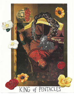 Autumn Casey, tarot card collage on view as part of A heap of broken images, where the sun beats: Autumn Casey at PRIMARY, 15 NE 39th Street from November 25, 2016.