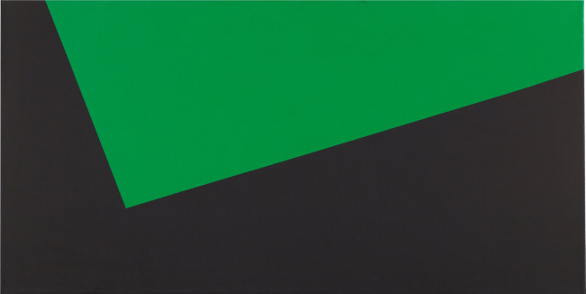 Carmen Herrera, (Cuba b. 1915), Black and Green, 1975.
