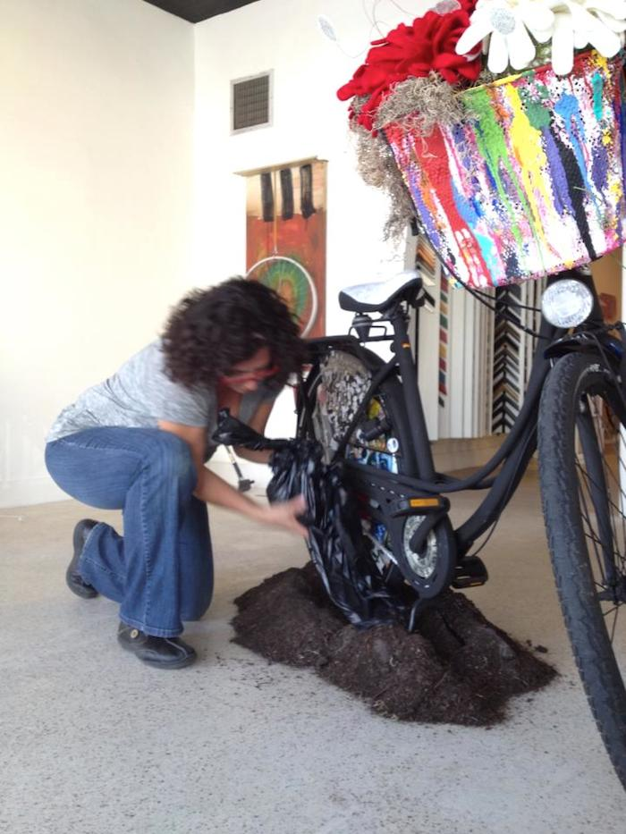 ART bike installation and artist Giselle Delgado, 2013