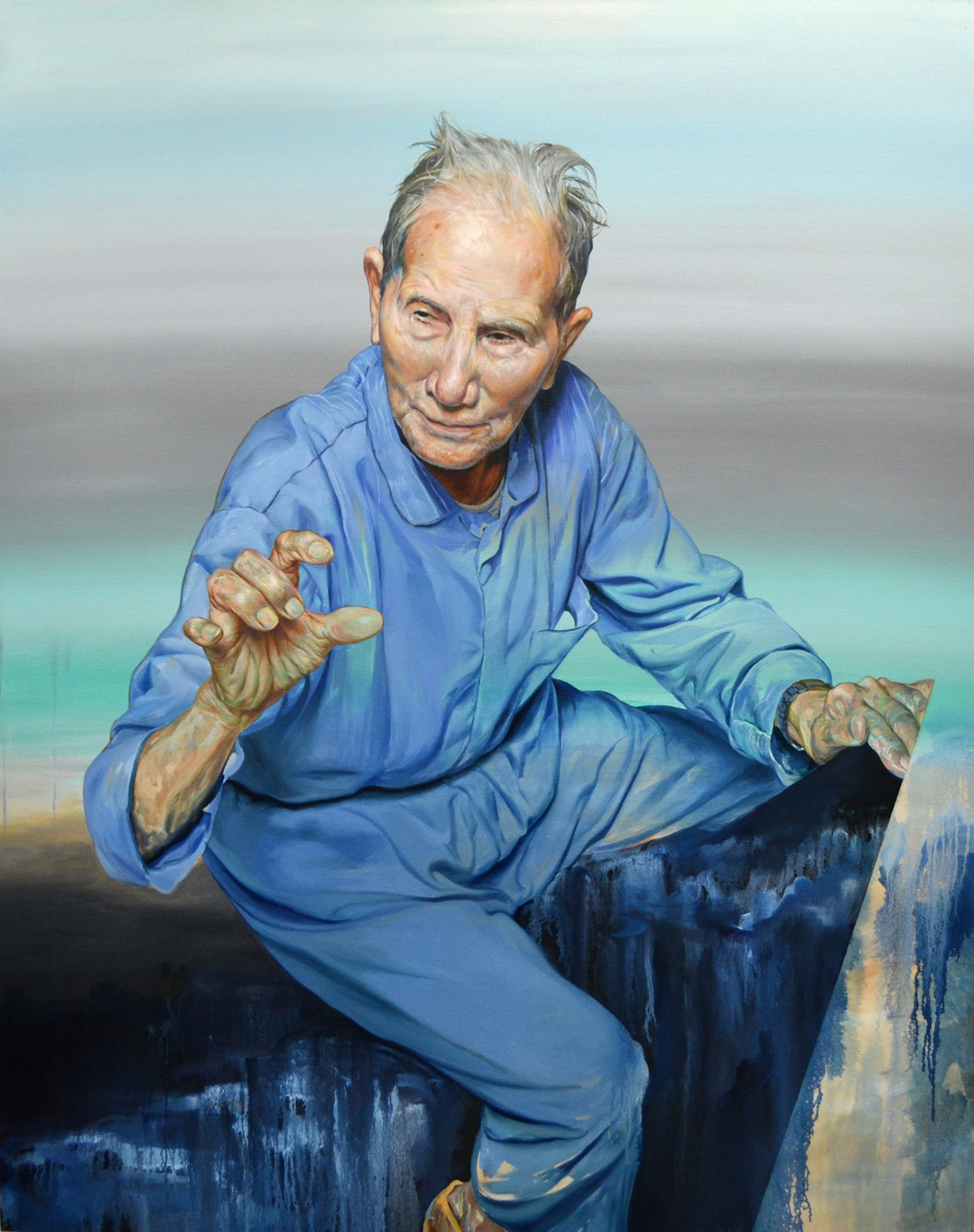 Reiner Gamboa, Abuelo, oil on canvas.