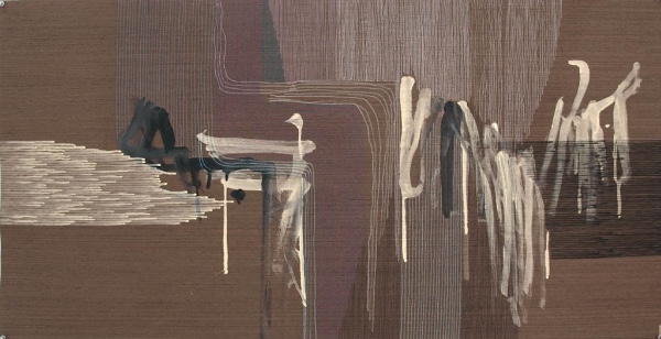 Ernesto Garcia Sanchez, Untitled Nr. 3, 2016. Acrylic and graphite on wood, 25 x 49 in.