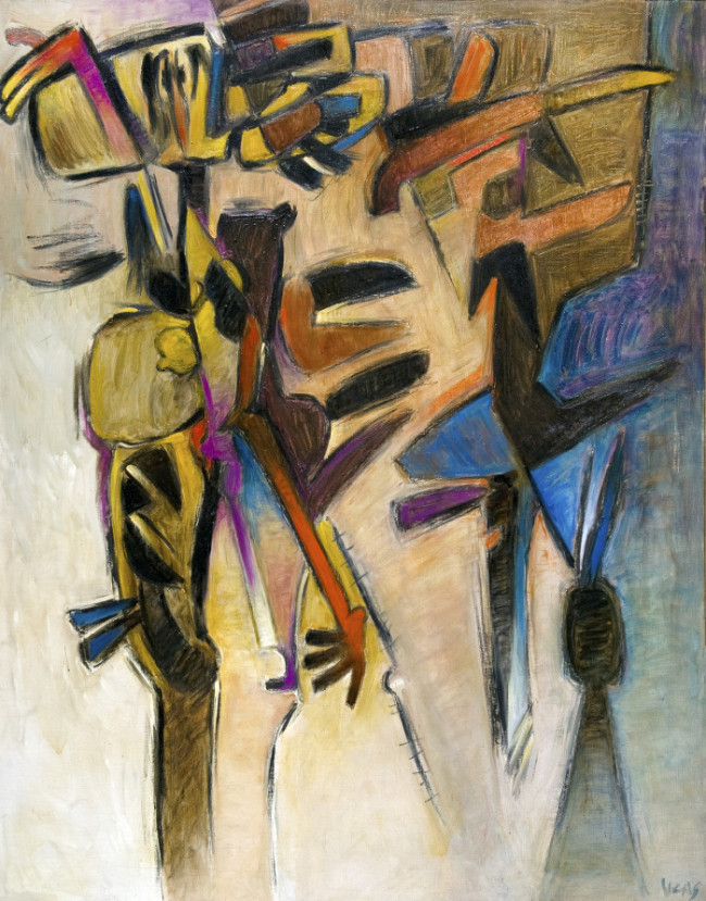 Gesticulate, 1976, Oil on canvas, 58.9 x 47.2 inches (150 x 120 cm)