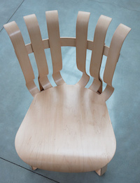 Frank Gehry's Hat Trick chairs at the New World Center.Courtesy of the New World Center