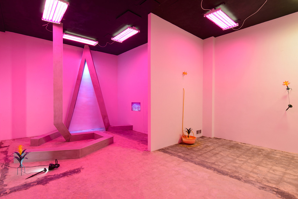 """Glauko Alizara and Luca Wayra, """"Dynamism Redux"""", installation view of the inaugural show this summer at Jenielift in Little River."""