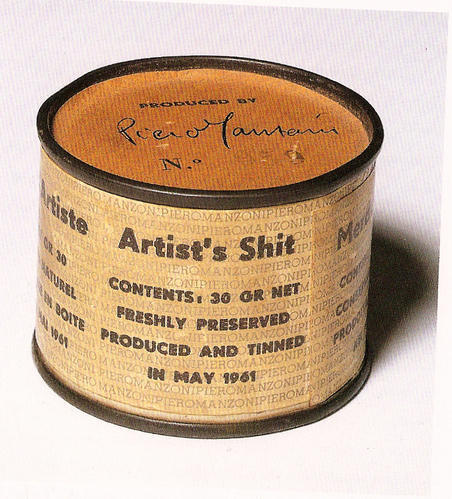 Piero Manzoni, Artists' Shit, contents 30 gr. net, freshly preserved. Produced and tinned in May 1961.