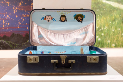 Sandra Ramos, From the series Migraciones II, 1994, Oil on suitcase. Courtesy of Jorge M. Pérez and The Related Group