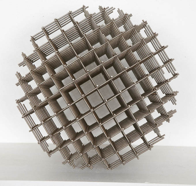 Francois Morellet, Sphere, 1962, Metal, 14 in. diameter. Multiple – Edition Denise Rene of 100