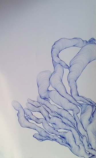 Tatiana Wolska, Untitled, 2013, Pen on Paper, 21 x 15 cm.
