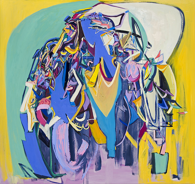 Ali Smith, Counterpoint, 2015, oil oncanvas, 72 x 76 in.