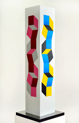 Mateo Manaure, Columna policromada #23, 2000, Mixed media on wood, 62.9 x 19.6 in. Courtesy of Durban Segnini Gallery