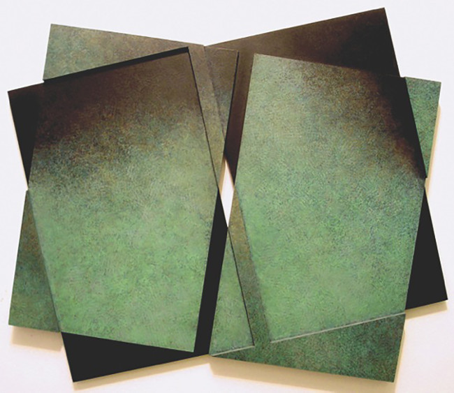 Construction 124, 1991 32 x 37 x 2 in. (81 X 93 x 5 cm) Oil on Wood