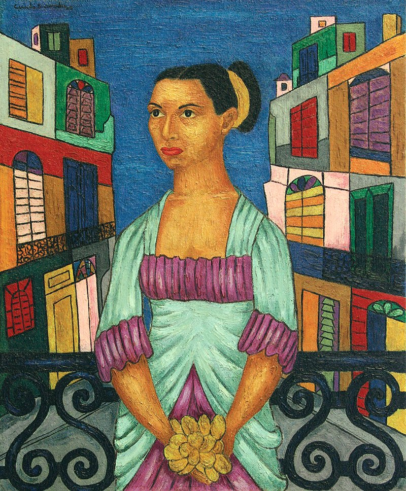 Cundo Bermúdez, Portrait of Marta, 1947, oil on canvas, 24 x 18 inches