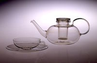 Teapot, teacup, and saucer, before 1945(designed 1930–34) Wilhelm Wagenfeld , designer. Courtesy of the Wolfsonian Museum / FIU