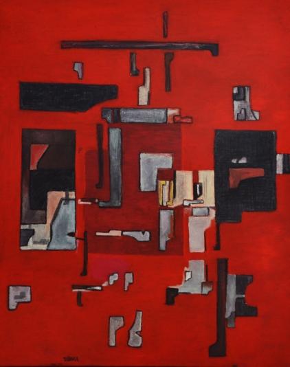 Coloquio-en-color-rojo-2019-140x110-cm-Colección-Enrique-Tábara