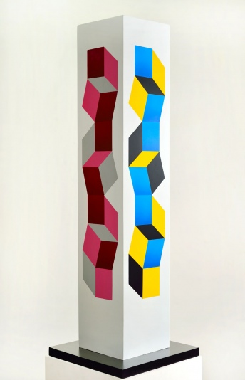 Columna-escultorica-policromada-mixed-on-wood-103-x-33.5-x-33.5-cm-2002