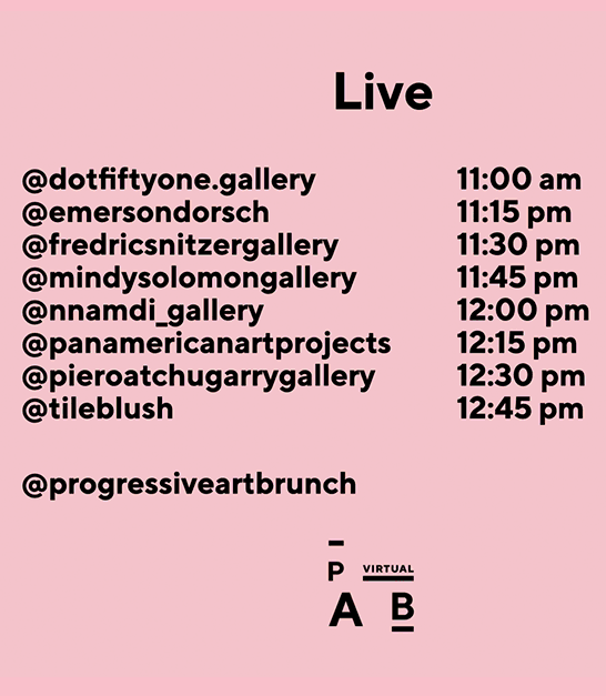Second  LIVE Progressive Art Brunch @ PAB Instagram LIVE