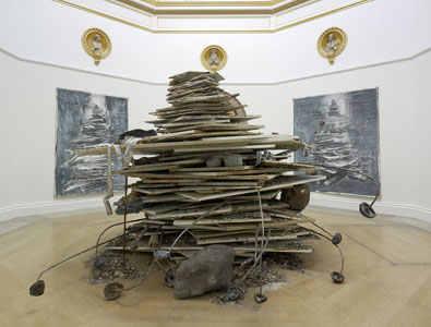 Anselm Kiefer Geheimnis der Farne, 2007. Permanent installation on view at the Margulies Collection at the Warehouse, 591 NW 27th Street. Photo by Jon Lowe