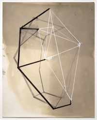 Gordon Moore, Untitled I, 2006, Ink, acrylic on photo paper in artist steel frame, 10 x 8 in. Courtesy of Betty Cuningham GalleryGordon Moore employs diverse materials to challenge viewers' perceptions of form and depth. ET
